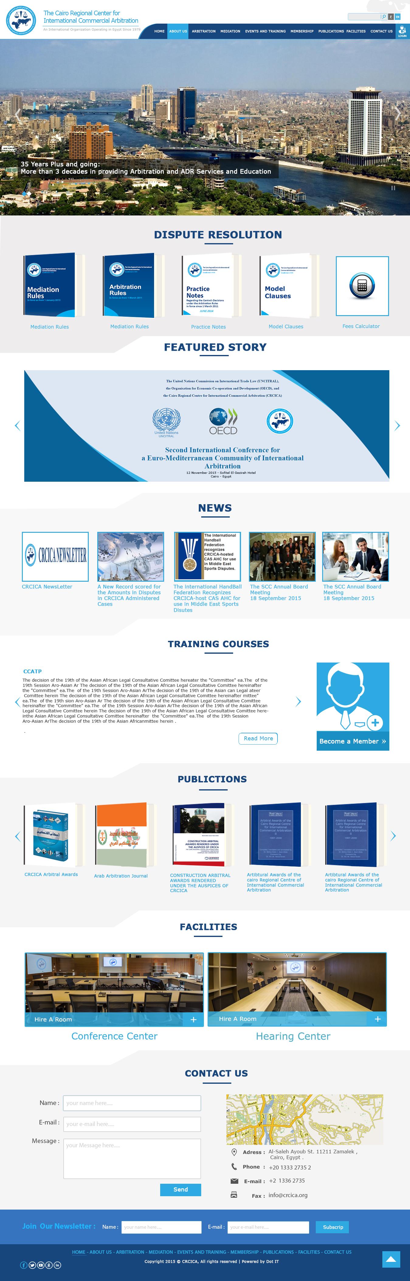 The Cairo Regional Centre For International Commercial Arbitration Crcica Is An Independent Non Portfolio Website Design Quality Web Design Portfolio Design