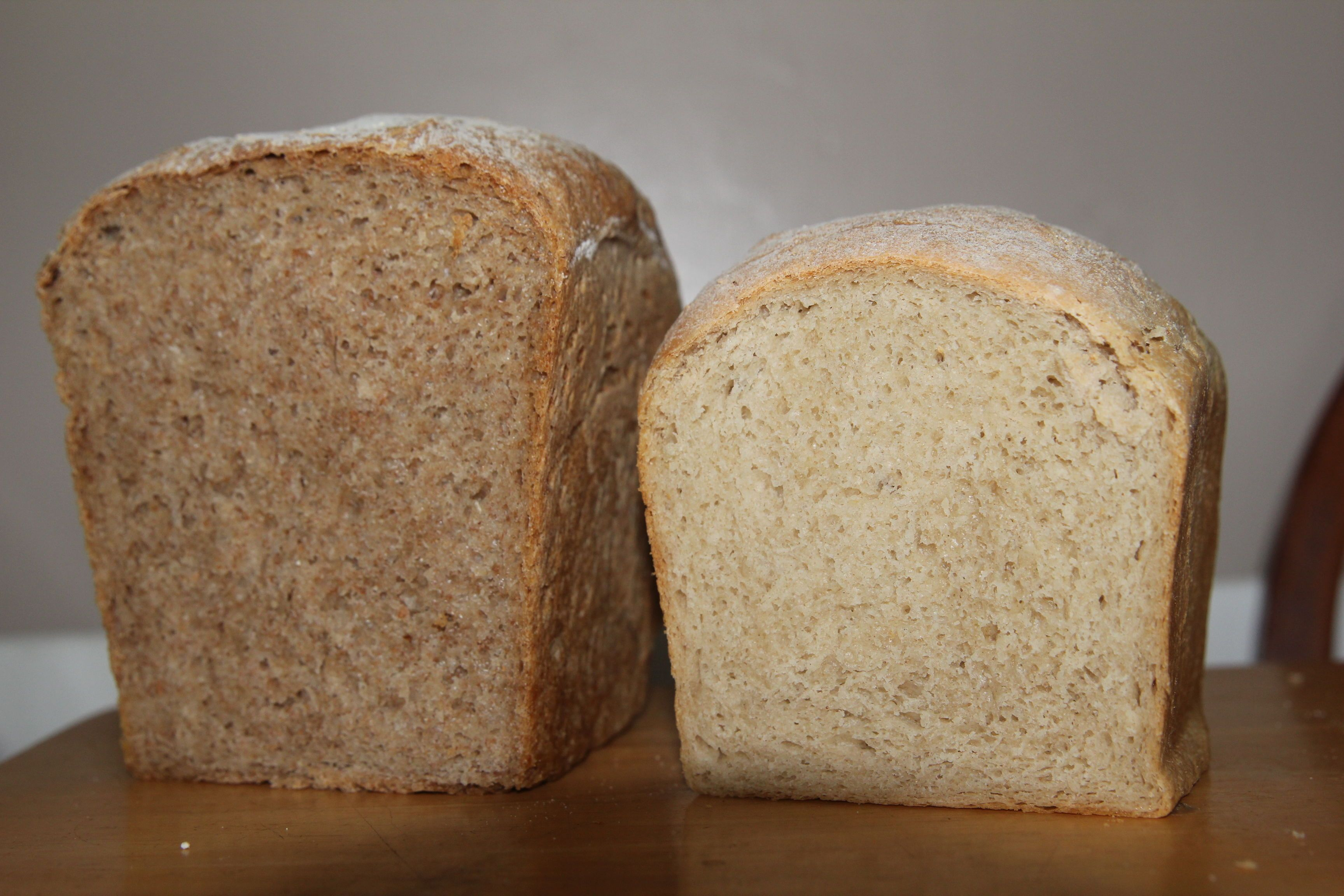Half wholemeal half white bread | Recipe in 2020 | Bread ...