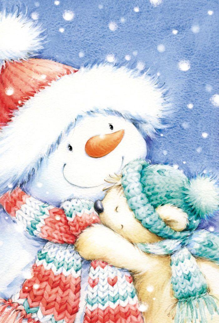 картинки милых снеговиков