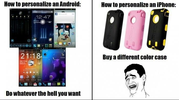 How To Personalize Your Phone Android Vs Iphone Iphone Meme Android Meme