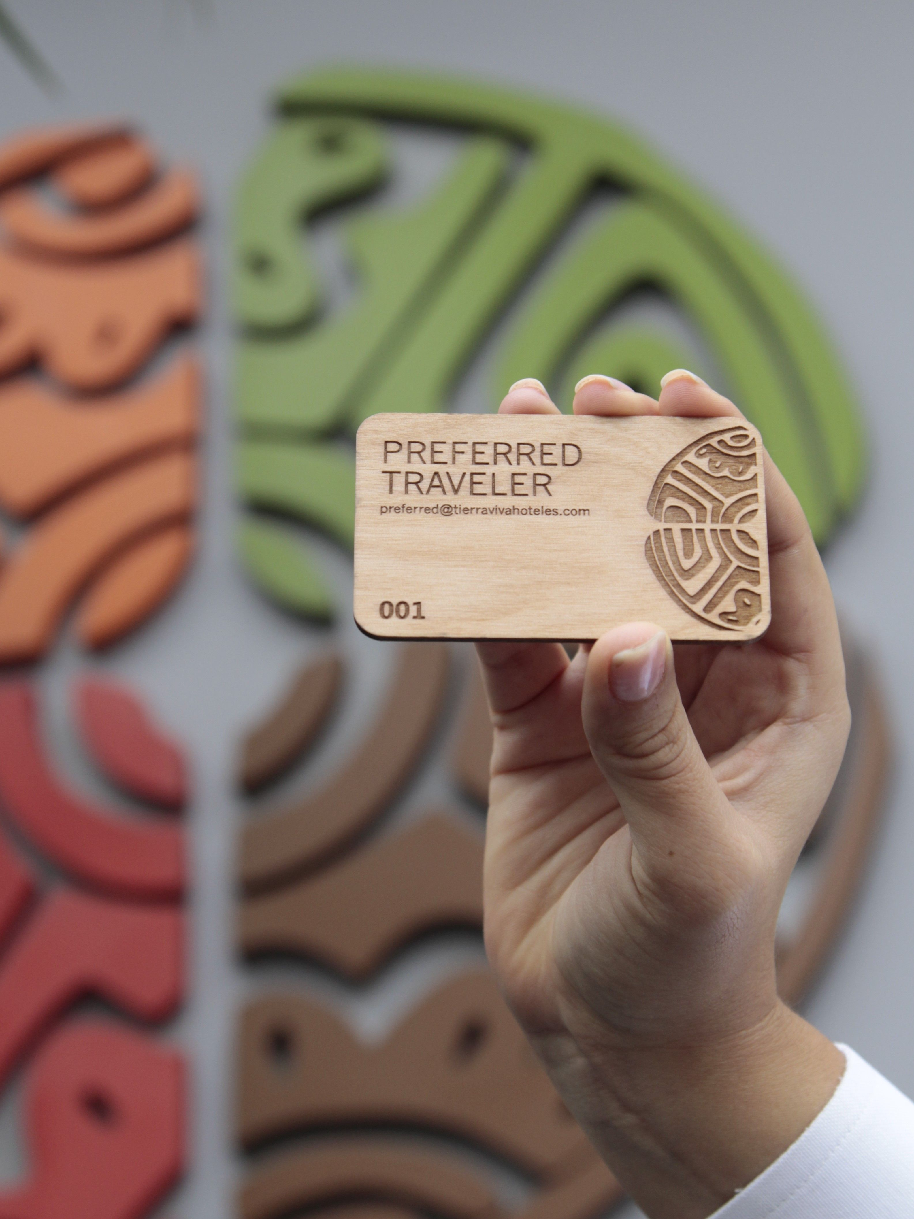 Wood Laser Engraved Business Card For A Hotel In Peru Wood Business Cards Hotel Card Hotel Key Cards