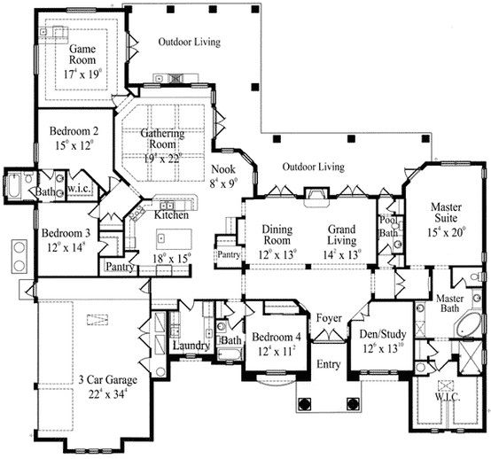 New House Ideas House Plans Dream House Plans Floor Plans