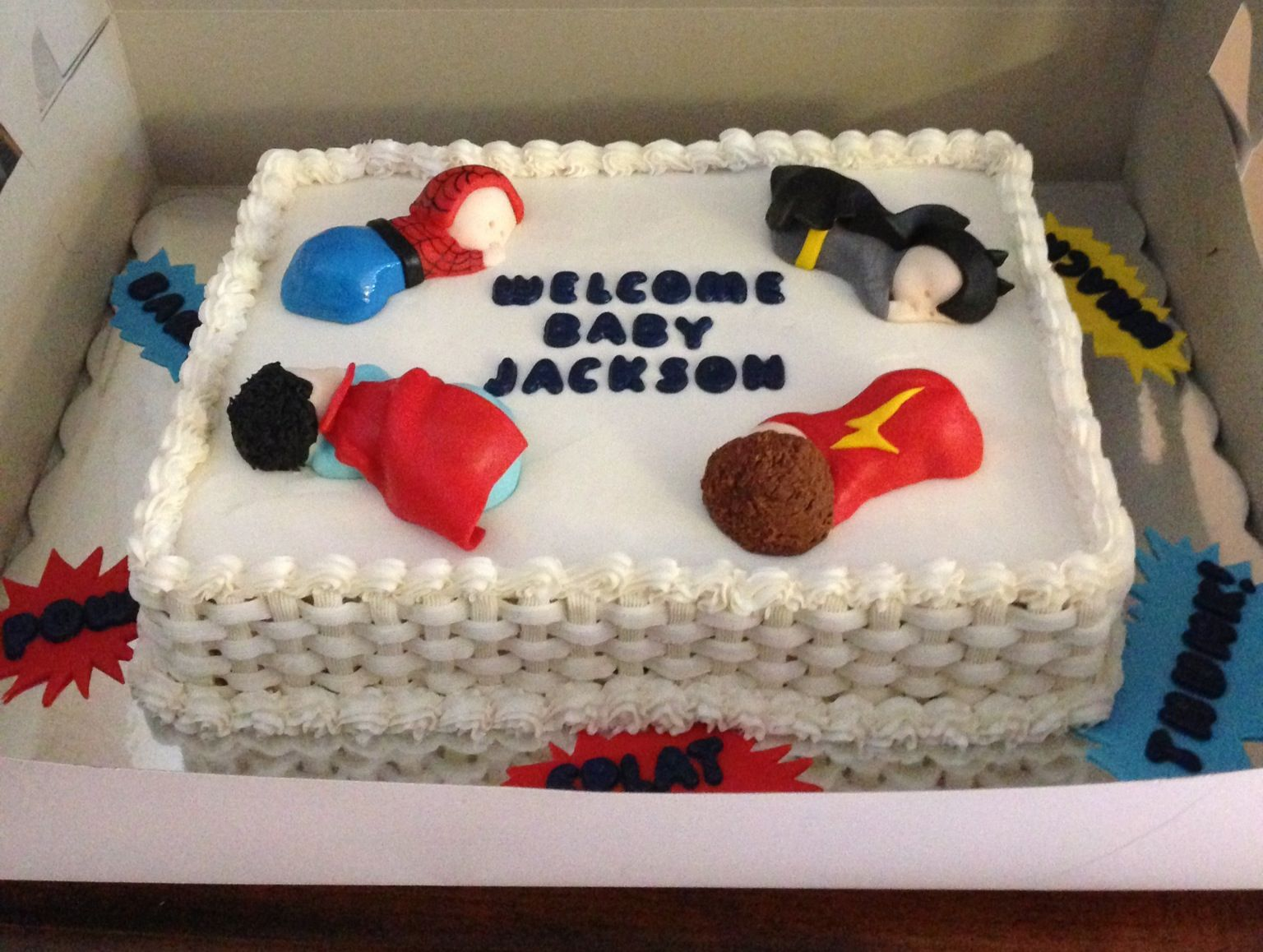Baby Shower Cakes Dc ~ Super hero baby shower cake cakes created by me