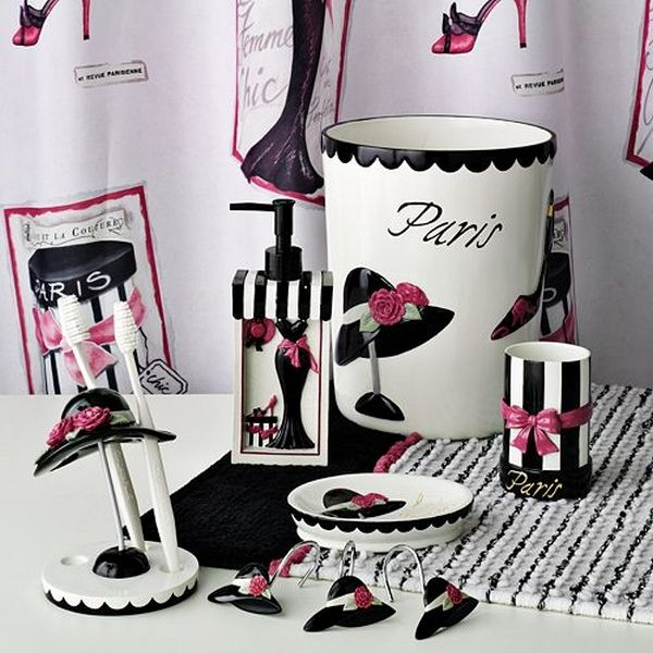 Paris themed bathroom set bathroom ideas paris themed for Space themed bathroom accessories
