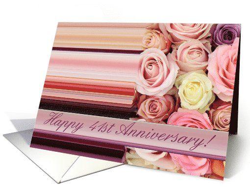 41st Wedding Anniversary Gift: 41st Wedding Anniversary Card