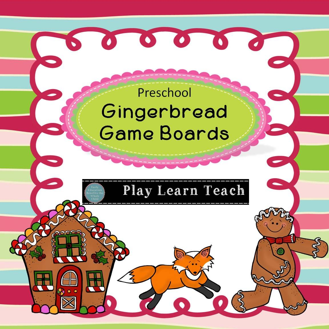 Preschool Gingerbread Game Boards Counting 1 6 And Spatial Relationships Gingerbread Activities Gingerbread Games Creative Teaching [ 1152 x 1152 Pixel ]