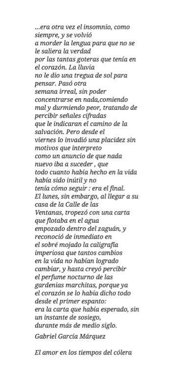 Gabriel Garcia Marquez De La Mejor Historia De Amor Que He Leido El