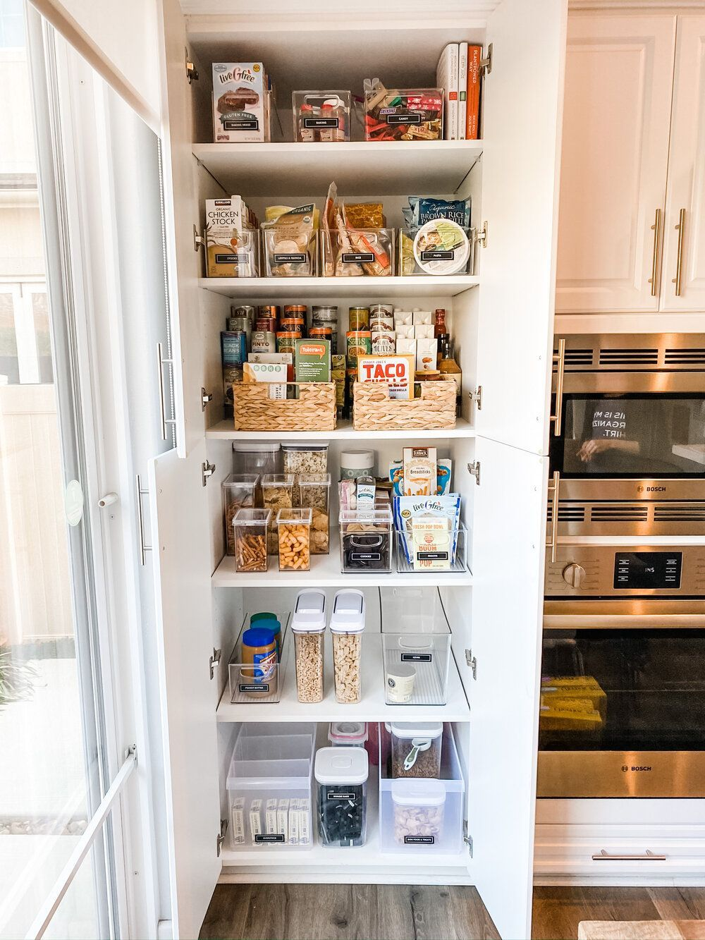 7 Products To Maximize That Dreaded Deep Pantry Riorganize In 2020 Deep Pantry Kitchen Organization Pantry Kitchen Hacks Organization
