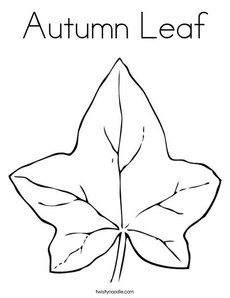 Autumn Leaf Coloring Page - Twisty Noodle | Sunday school crafts ...