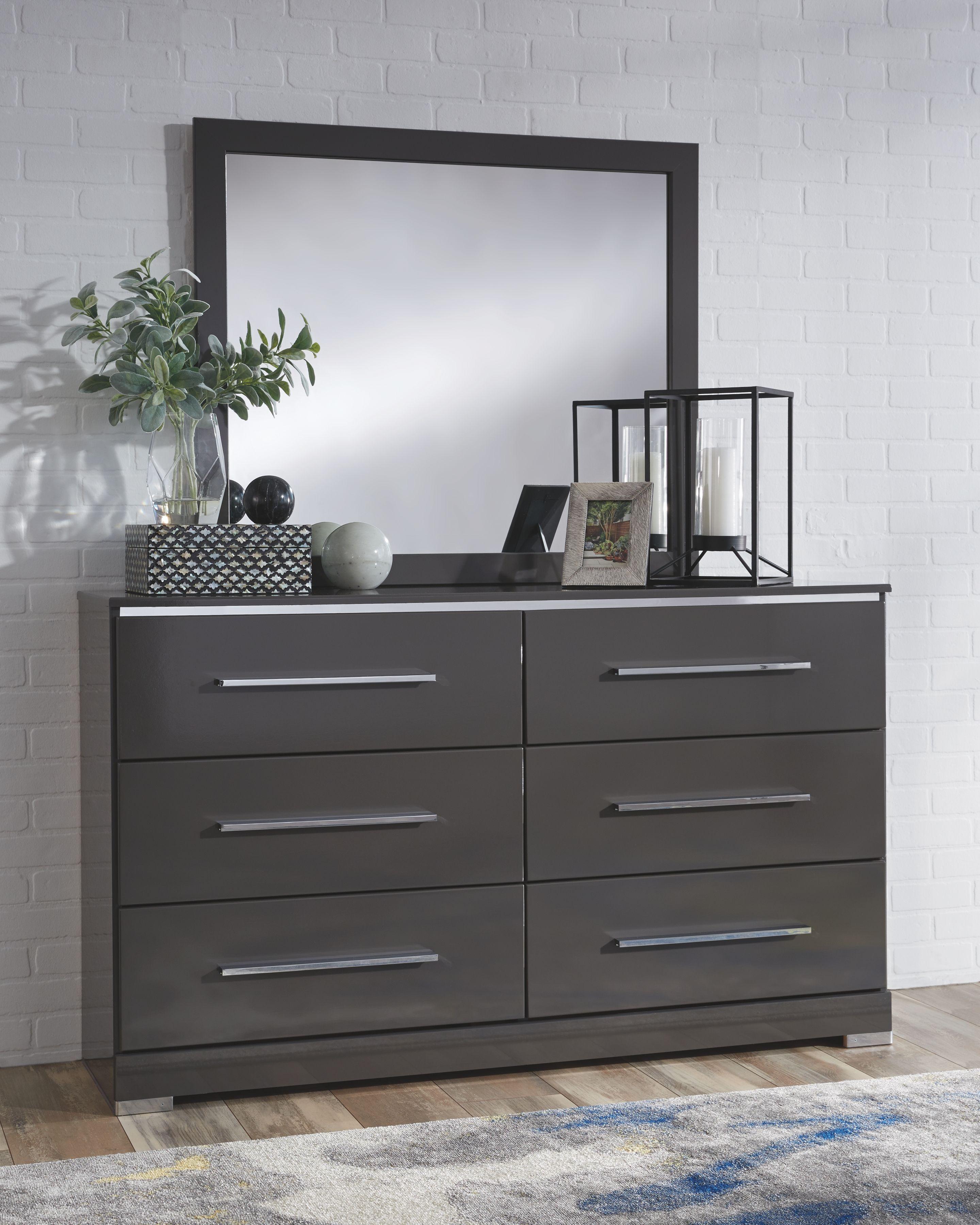 Steelson - Gray - Dresser & Mirror - JR Furniture & Mattress