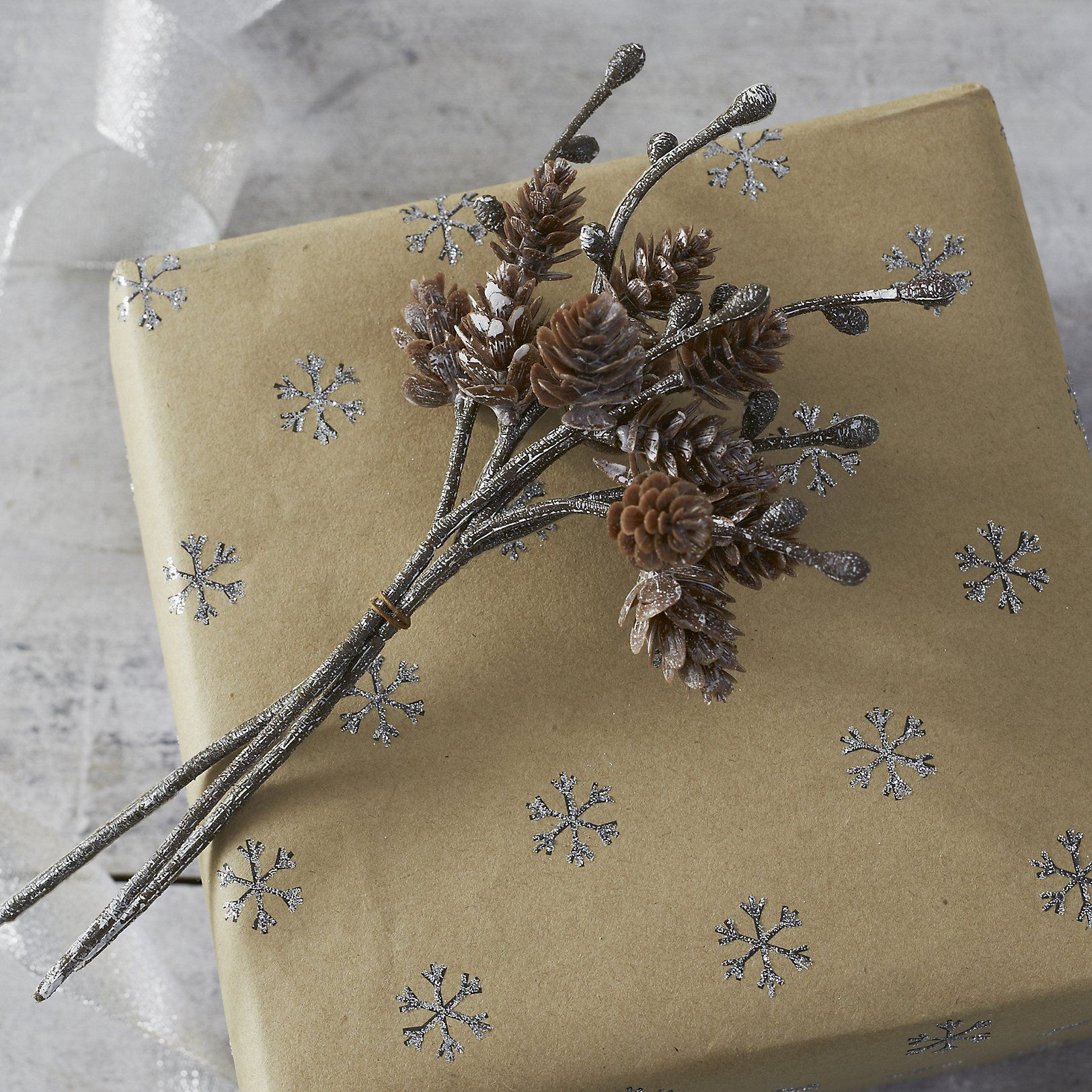 Frosty Pinecone Ties - Set of 3 | Wrapping Accessories | Cards ...
