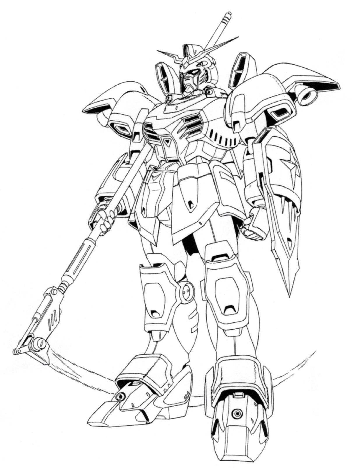 for Gundam wing coloring pages