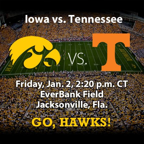 We want to see a repeat of the 1982 Peach Bowl -- when Iowa beat Tennessee -- today when the two teams face each other in the TaxSlayer Bowl. Go, Hawks!