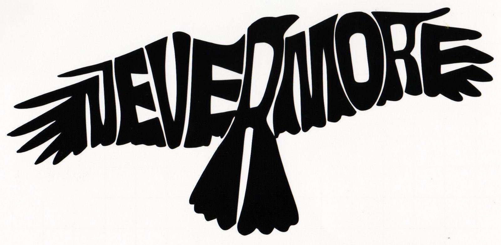 The Raven Nevermore Vinyl Decal Car Window Bumper Sticker Edgar Allan Poe Bird Nevermore Raven Car Decals Vinyl Nevermore [ 785 x 1600 Pixel ]