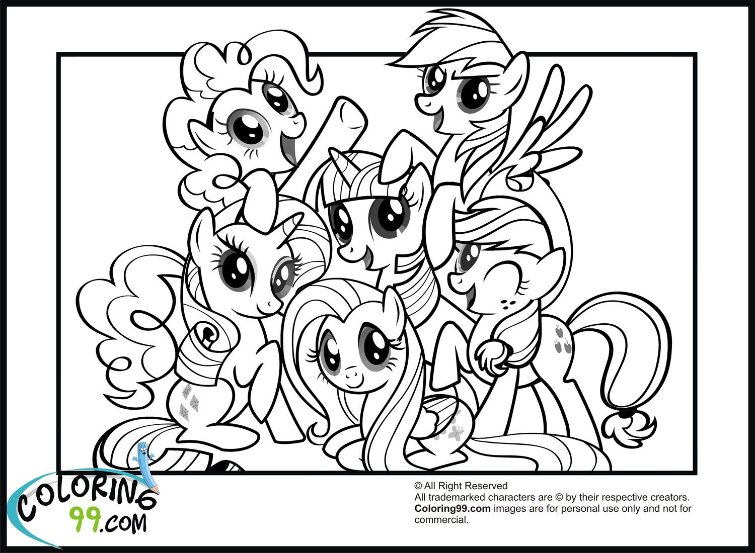 My little pony unicorn coloring pages - My Little Pony Coloring Pages