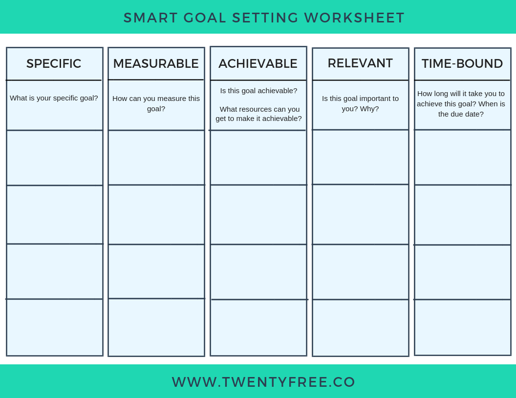 6 Simple Smart Goal Templates To Make Goal Setting