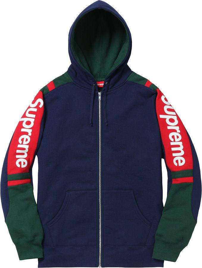 687193f7f23d55 Supreme Logo Rib Hooded Sweatshirt