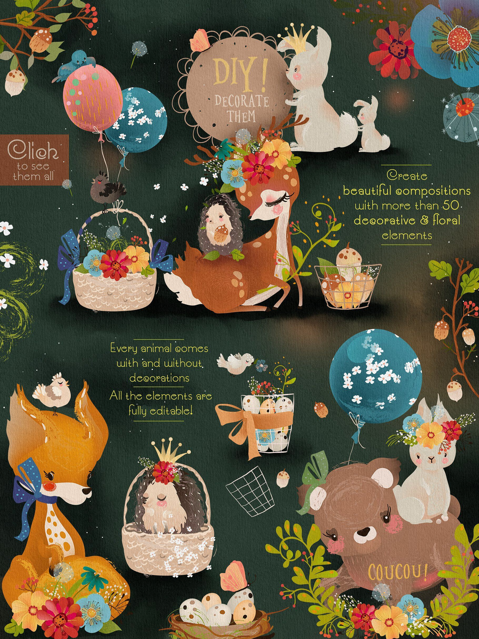 Whimsical Forest Principesca Creativemarket #forest