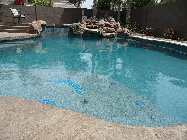 Pebble Sheen Blue Granite Pools Pool Colors Pool Landscaping