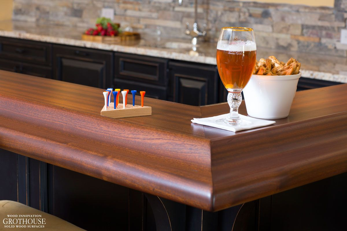 Custom Wood Bar Top Ideas