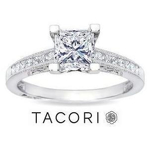 Platinum Princess Cut Diamond Engagement Rings 24