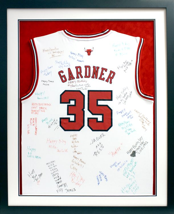 Custom framed Chicago Bulls jersey. Designed and framed at Art ...