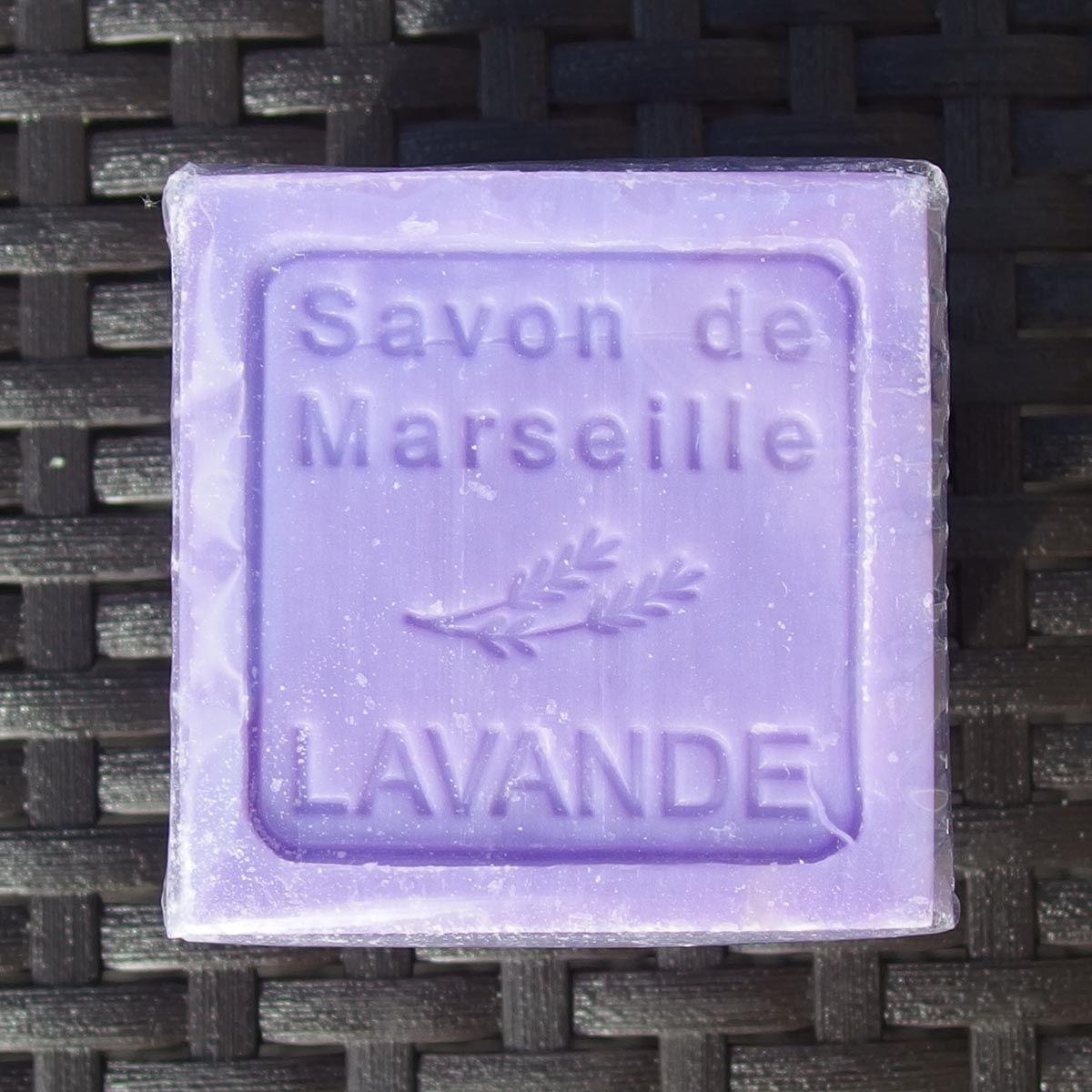 Lavender (Cube) Marseille soap. Shop online at www.tasteoffrance.ie
