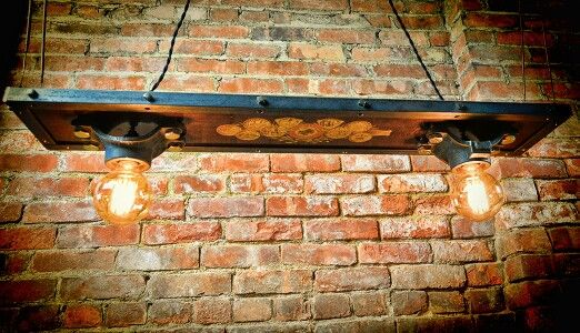New Over Counter Light Fixture Using Antique Piano Wood Industrial - Over the counter light fixtures