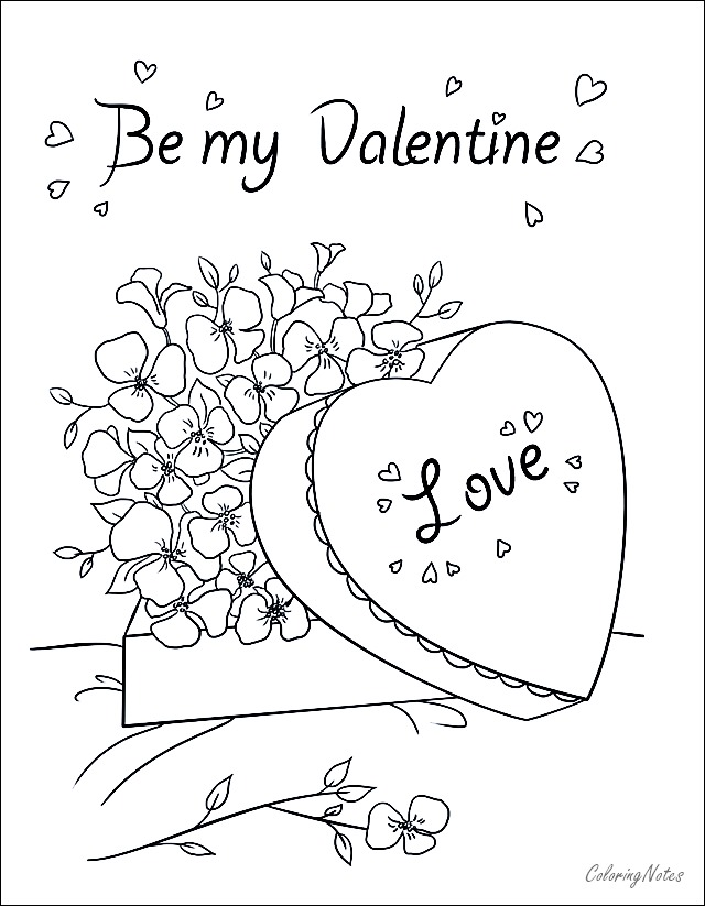 Valentines Day Coloring Pages Free Printable Easy Valentines Day Coloring Page Valentine Coloring Pages Printable Valentines Day Cards