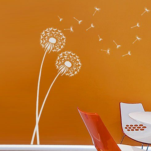 This Would Look Great On My Rainwashed Wall Stencil Dandelion Size MED