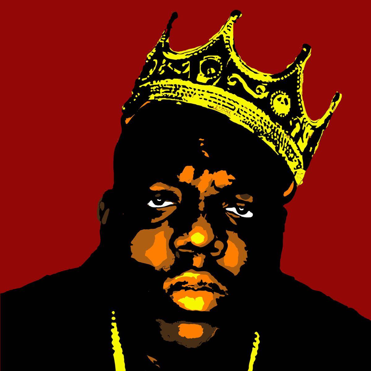Notorious B.I.G aka Biggie Smalls (Peinture),  100x100x4 cm par John Von Brown
