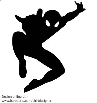 Superhero spiderman jumping vector graphics Free SVG