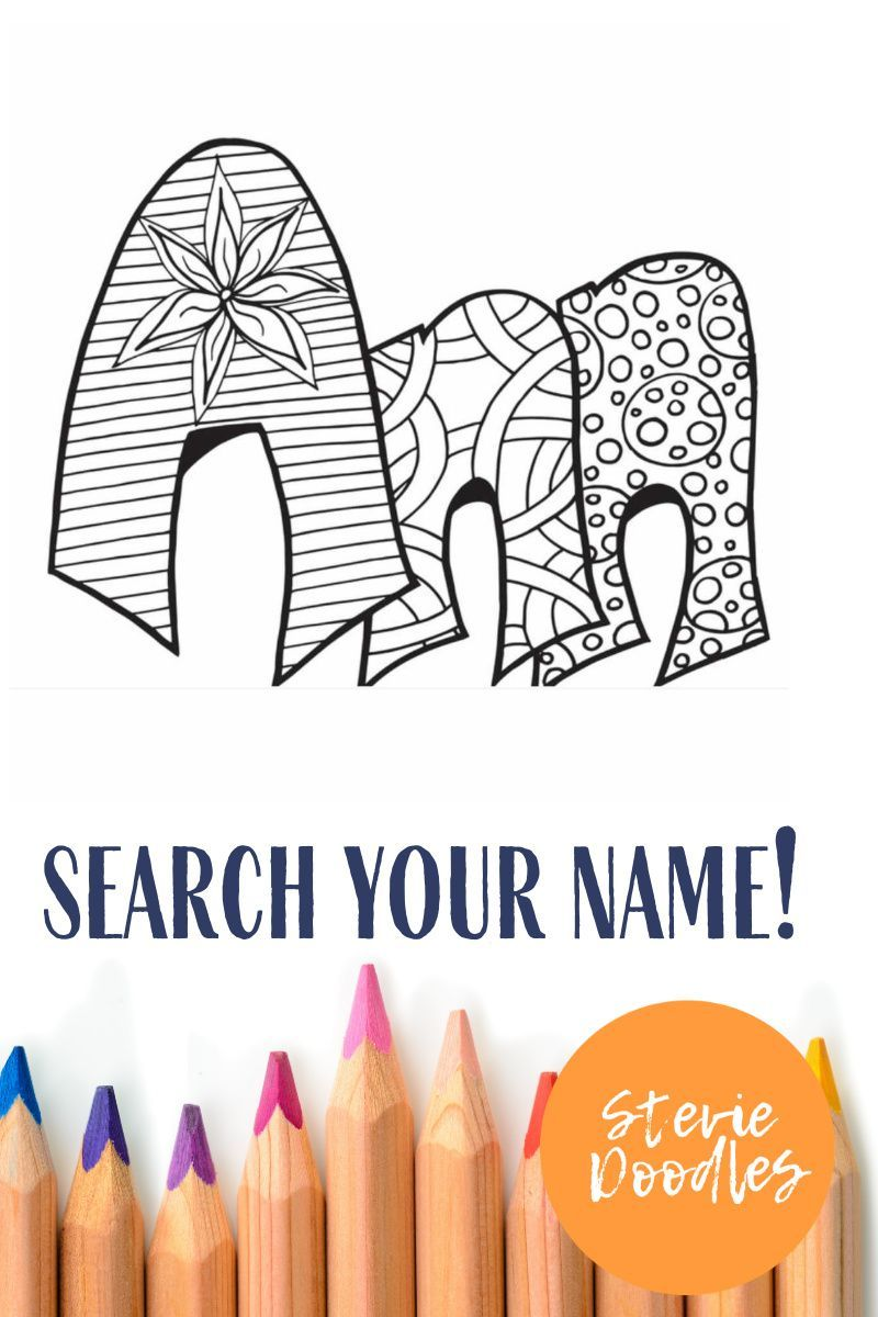 Free Ann Printable Custom Coloring Page Stevie Doodles Name Coloring Pages Free Coloring Pages Coloring Pages