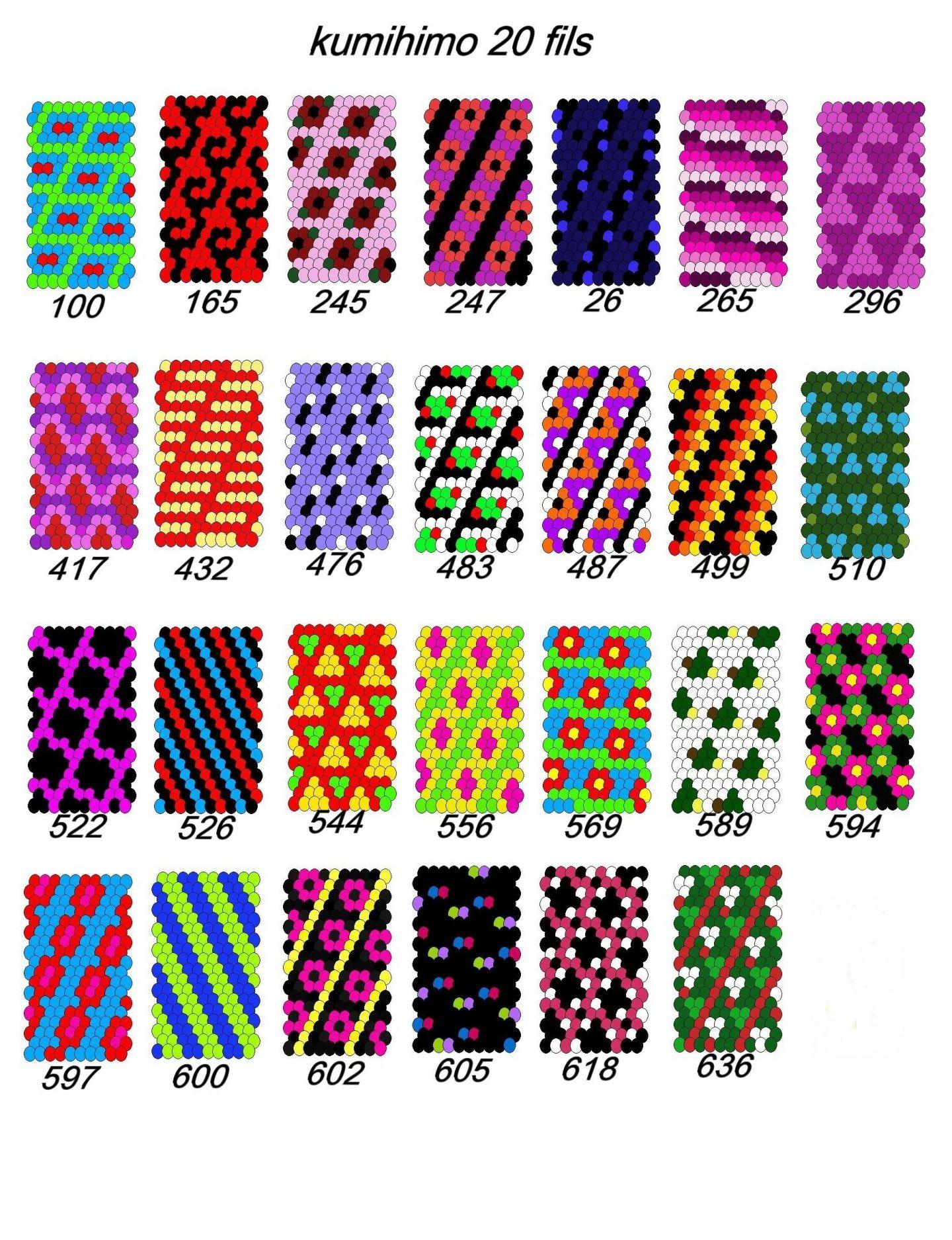 Gut gemocht Cordon kumihimo - 20 fils - Divers motifs au choix | Kumihimo  KR45