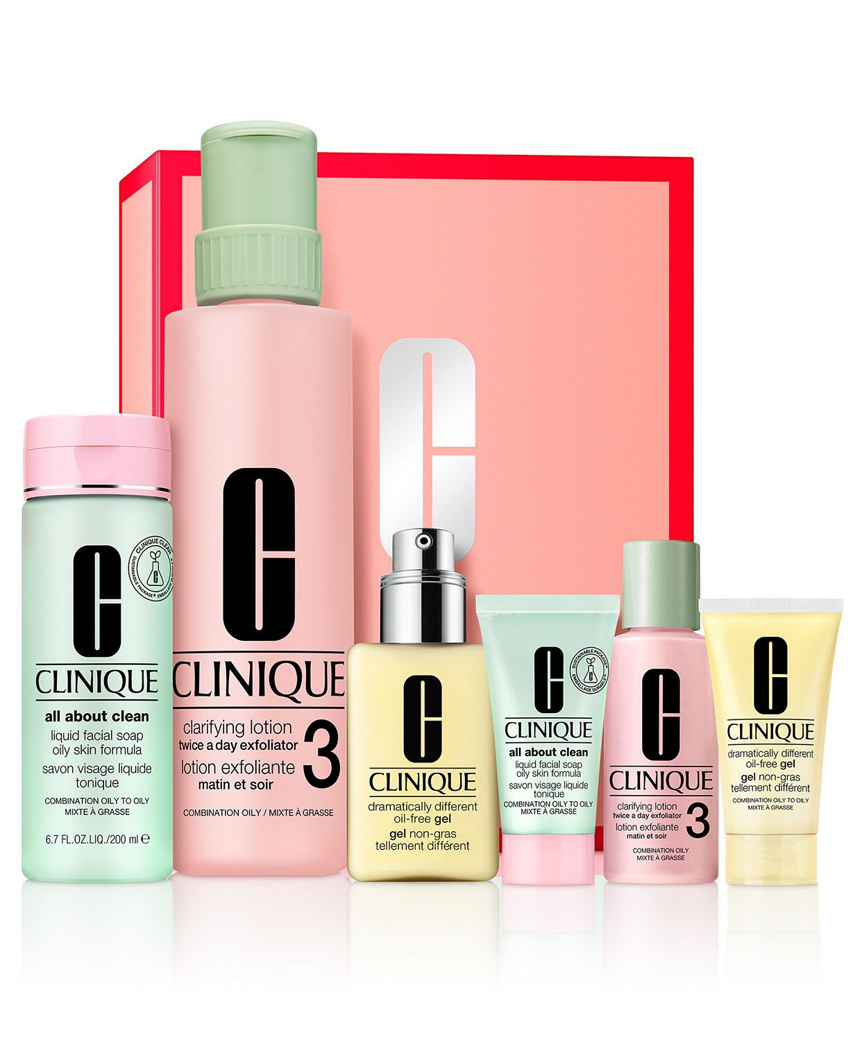 Clinique 6 Pc Great Skin Everywhere Gift Set Reviews Beauty Gift Sets Beauty Macy S In 2020 Skincare Set Oily Skin Clinique