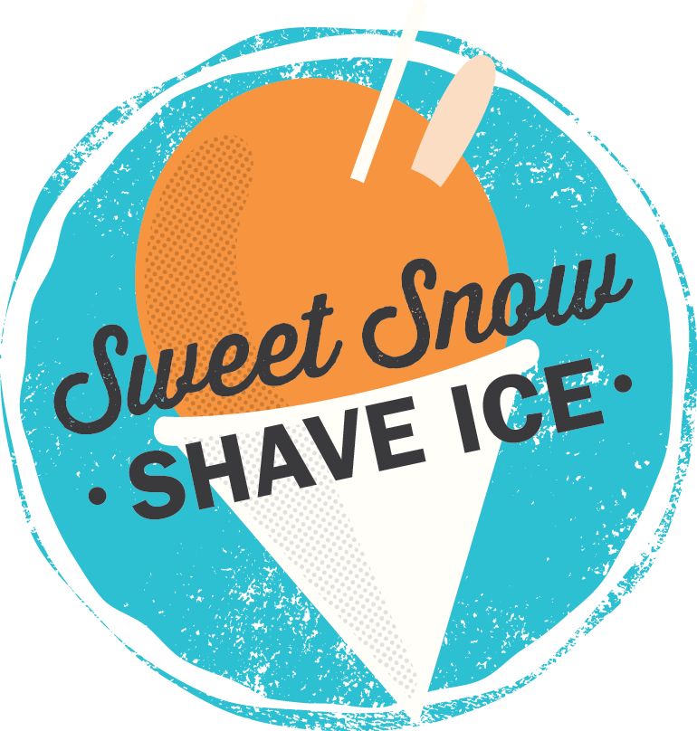 Sweet Snow Shave Ice Shaved Ice Ice Logo Snow Cone Stand