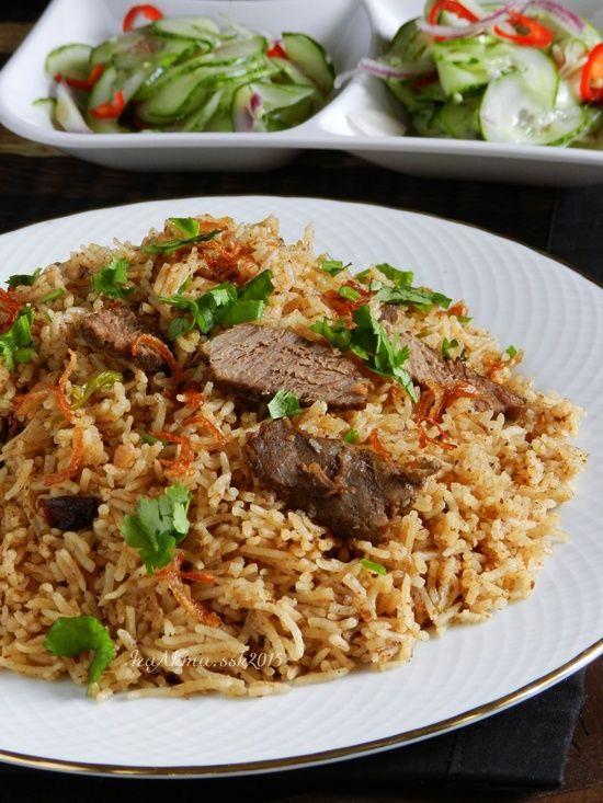 Nasi Daging Utara Rempah Nasi Daging Homemade Air Asam Kerisik Singgahsana Kitchen Asian Recipes Malaysian Cuisine Cooking Recipes