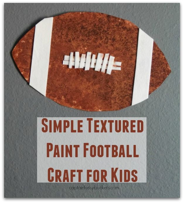 Art Ideas Ourselves Topic: Simple Textured Paint Football Craft For Kids