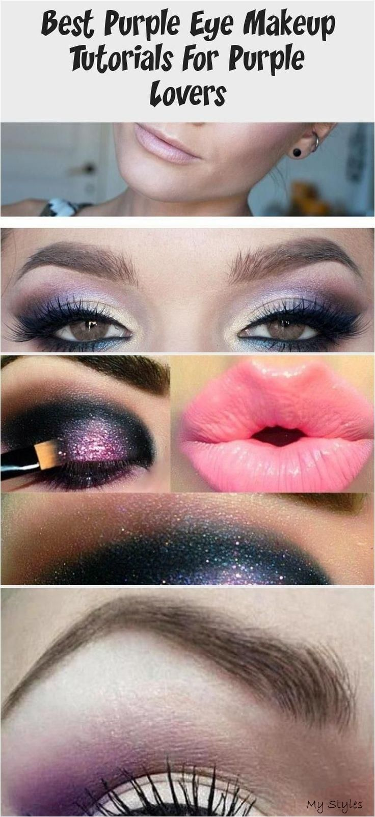 #eye #lovers #makeup #purple #smoky #tutorials – Brille Make-up