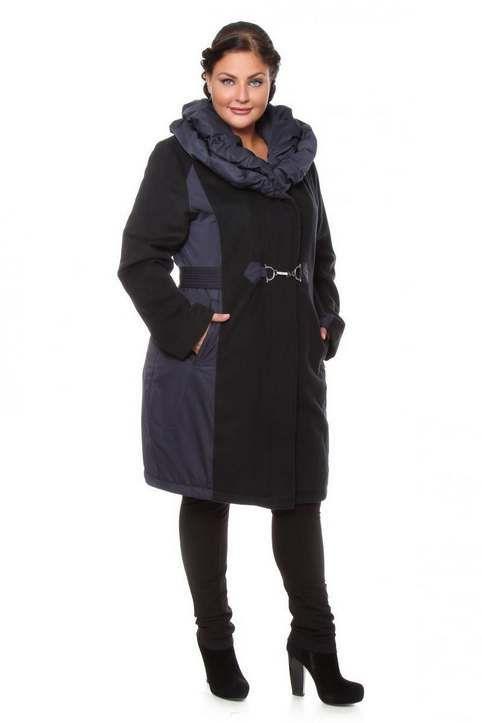 30945b68b10 Модные пальто и полупальто для полных женщин российского бренда NATURA осень-зима  2017-2018