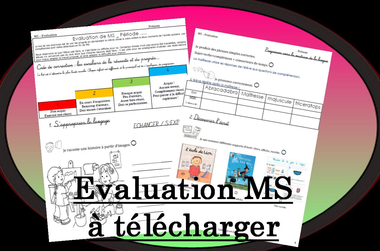 Bien connu Evaluations (Pépinette à l'ecole) | Evaluation, École et Maternelle HZ04