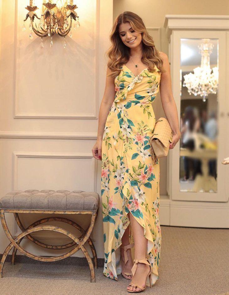 Vestidos Longos Estampados: 25 MODELOS LINDOS! - Mais Estilosa