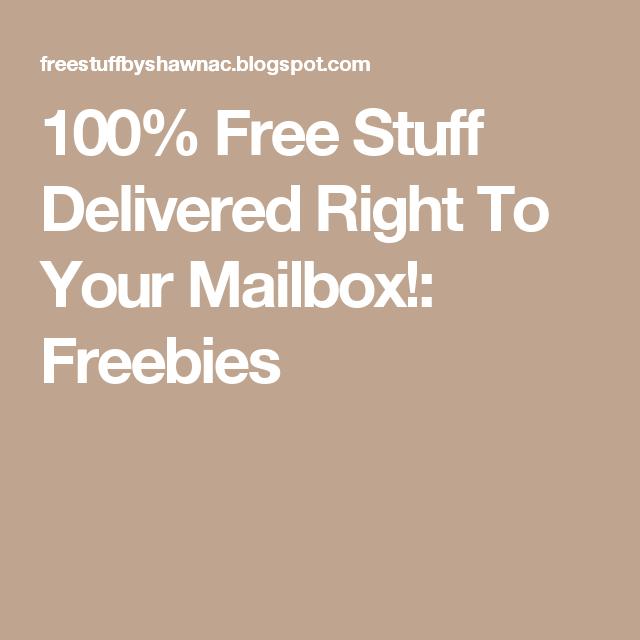 Free stuff sent to mailbox