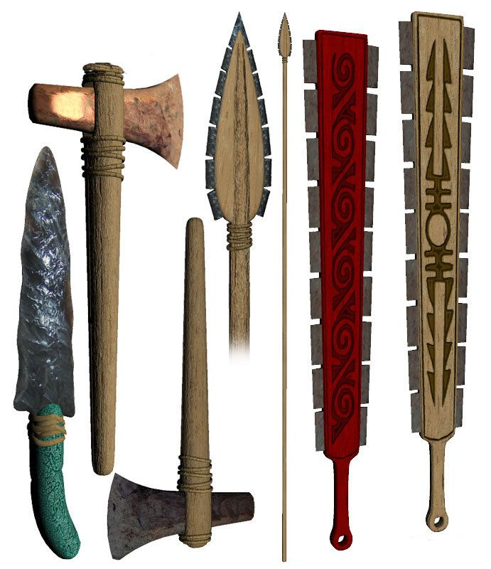 aztec weapons google search chads tattoo inspiration