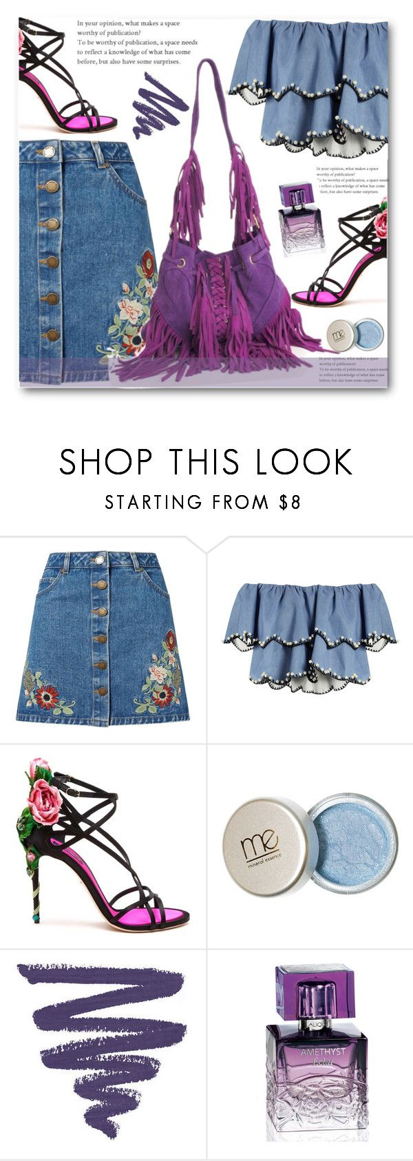 """""""Floral Fantasy"""" by edy321 ❤ liked on Polyvore featuring Miss Selfridge, HUISHAN ZHANG, Dolce&Gabbana and Lalique"""