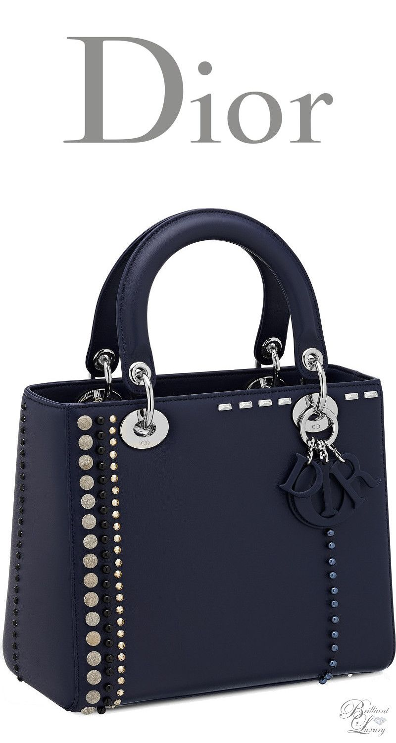 9b0d8cde6a79 Brilliant Luxury   Dior Cruise 2016 ~ Lady Dior bag in calfskin studded  with beads and rhinestones