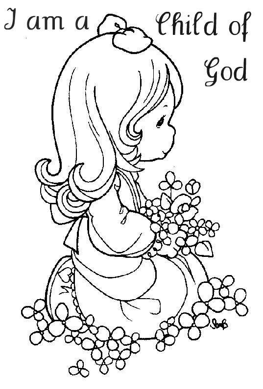 I am a Child Of God | My LDS coloring book | Precious moments ...