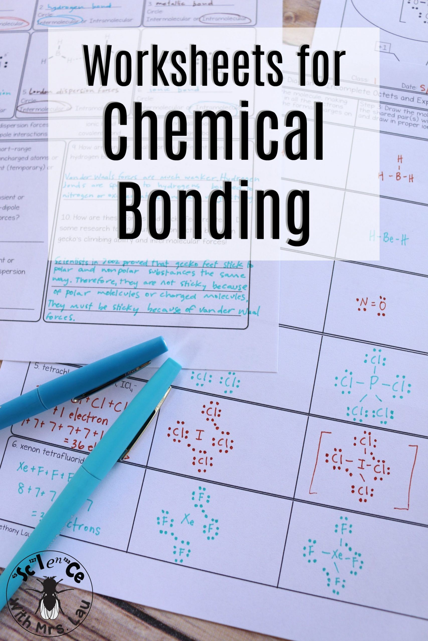 Lewis Structure Worksheet With Answers Chemical Bonding