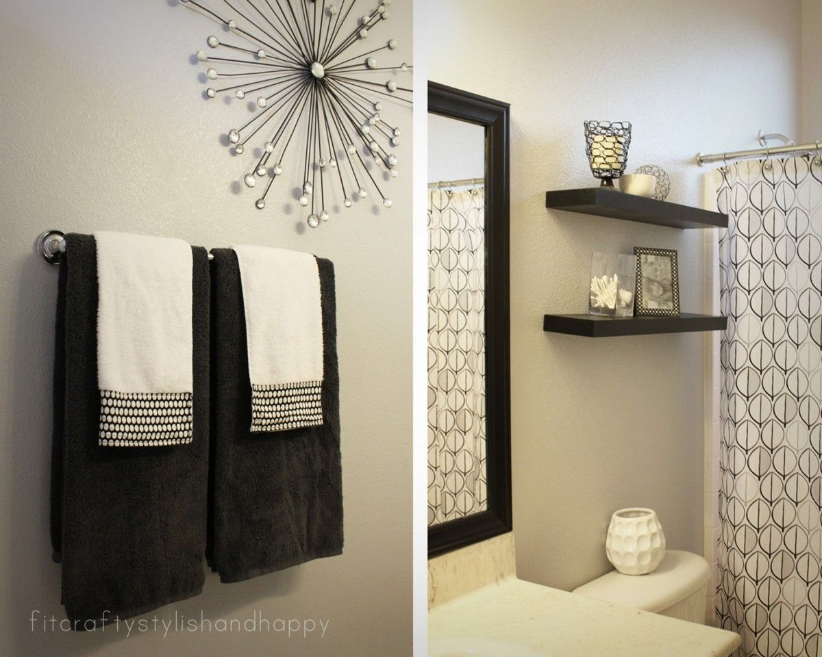 Hanging Decorative Towels Bathroom | Bathroom Utensils | Pinterest ...