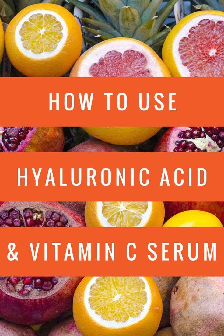 How to use hyaluronic acid and vitamin c serum hyaluronic acid